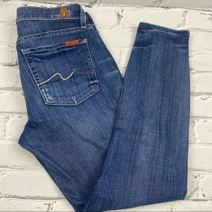 7 for all mankind cropped gwenevere stretch jeans
